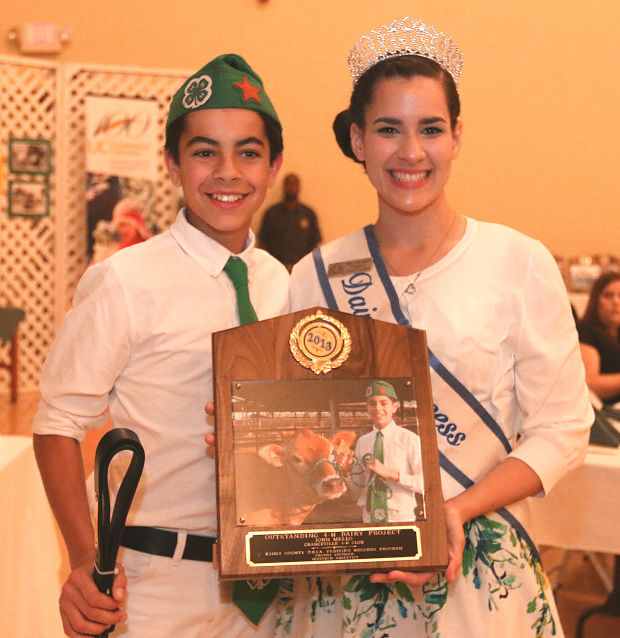 Kings County 4-H member receives award for Outstanding 4-H Dairy Project at the UCCE Kings County Centennial Event